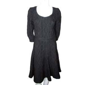 Pink Tartan Black Textured Dress Size Medium
